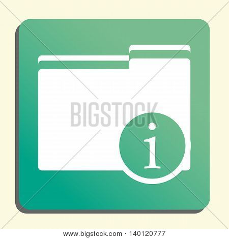 Folder Info Icon In Vector Format. Premium Quality Folder Info Symbol. Web Graphic Folder Info Sign