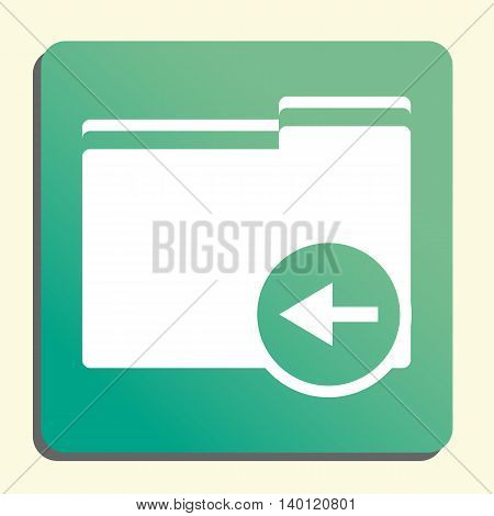 Folder Left Icon In Vector Format. Premium Quality Folder Left Symbol. Web Graphic Folder Left Sign