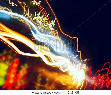 Abstract lines like electrical discharge