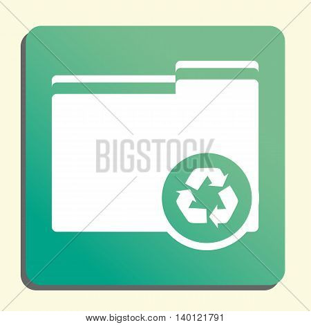 Folder Recycle Icon In Vector Format. Premium Quality Folder Recycle Symbol. Web Graphic Folder Recy