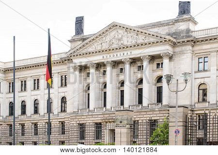 German Bundesrat. Federal Council. Prussian House of Lords on Leipziger Strasse. Berlin, Germany.