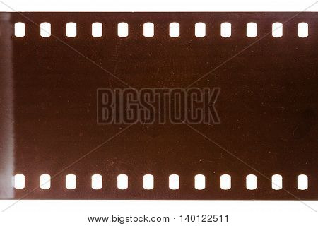 Blank grained dirty film strip texture background