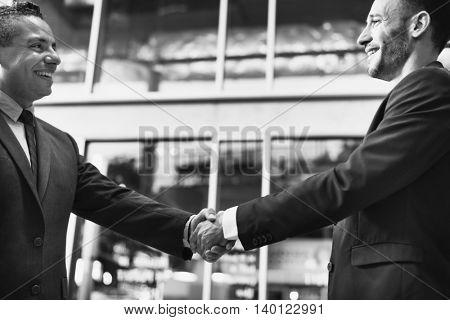 Business Handshake Deal Success Concept