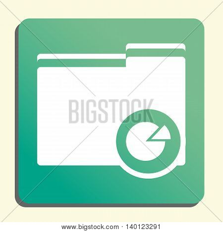 Folder Pie Graph Icon In Vector Format. Premium Quality Folder Pie Graph Symbol. Web Graphic Folder