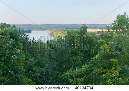 pine bend bluffs overlooking mississippi river in inver grove heights minnesota