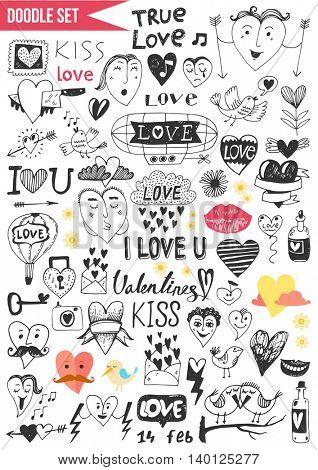 Doodles set - Love