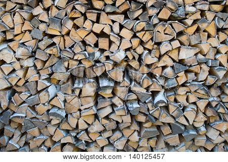 a very big pile of firewood background