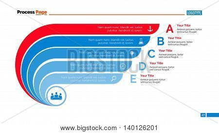 Process chart slide template. Business data. Graph, diagram, design. Creative concept for infographic, templates, presentation, report. Can be used for topics like planning, management, economics.