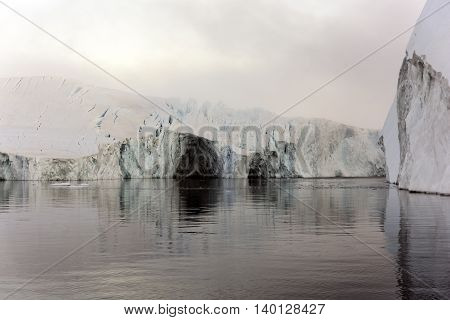 glaciers are on the arctic ocean in ilulissat icefjord, Greenland