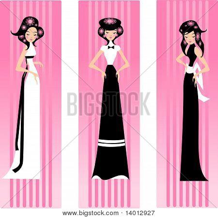 three pink lady.