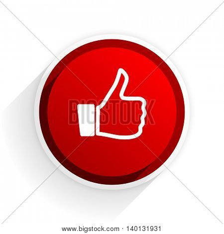 like flat icon with shadow on white background, red modern design web element