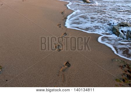shore of the Mediterranean Sea in the north of the State of Israel