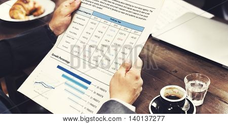 Holding Business Paperwork Cafe Concept