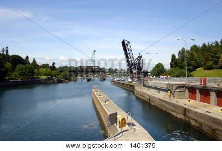 View Of Chittenden Locks In Ballard