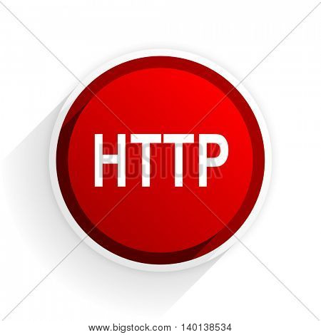 http flat icon with shadow on white background, red modern design web element