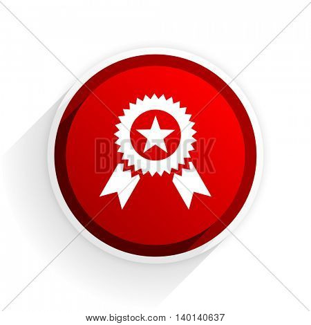 award flat icon with shadow on white background, red modern design web element