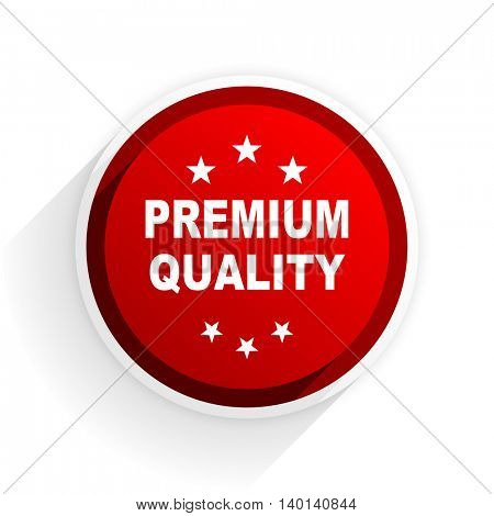 premium quality flat icon with shadow on white background, red modern design web element