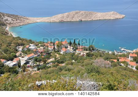 Mediterranean Village On The Croatian Sea Coast