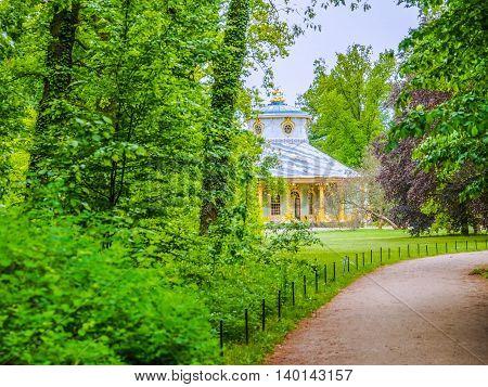 Tea House In Park Sanssouci In Potsdam Hdr