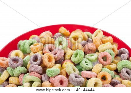 corn flakes ring isolated on white background