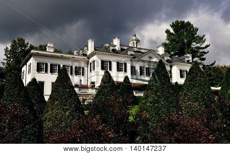 Lenox Massachusetts - September 16 2014: The Mount built in 1902 as a Summer home by noted American author Edith Wharton