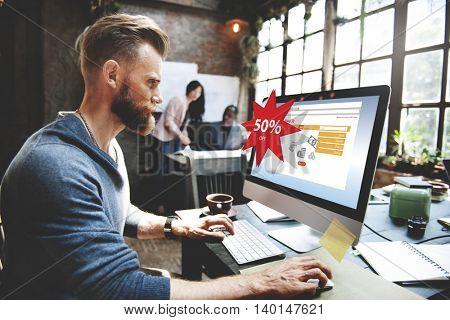 Online Shopping Marketing Sale Promotion Concept