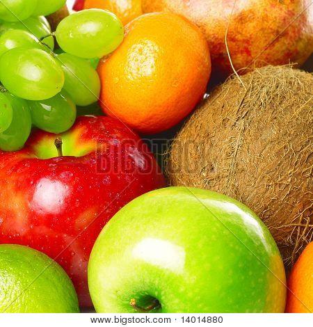 Heap of ripe fruits