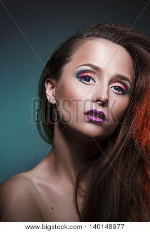 lovely makeup on face nice beautiful girl