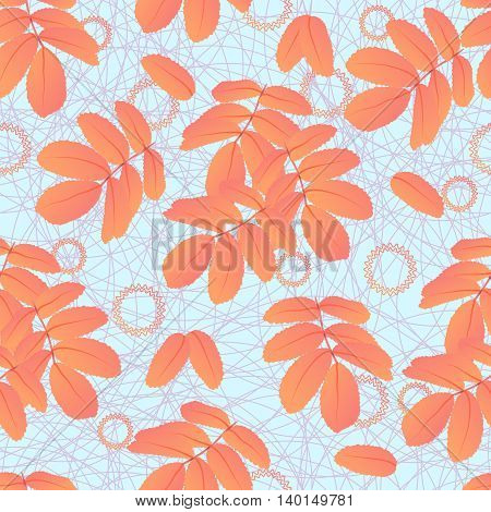 Abstract seamless pattern of leaves for decoration backgrounds