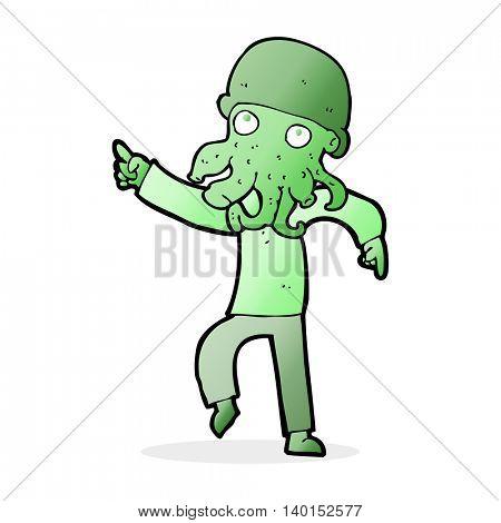 cartoon alien man dancing