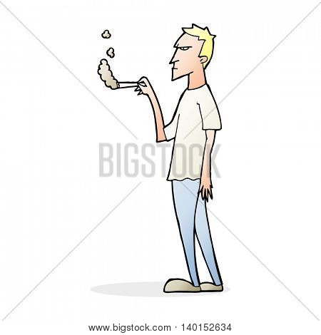 cartoon annoyed smoker