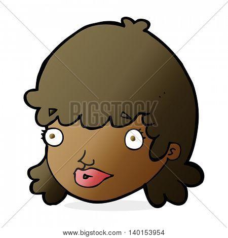 cartoon staring girl
