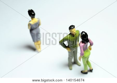 Man Chatting With Woman, And Single Woman