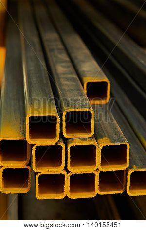 Yellow Metal Tubes