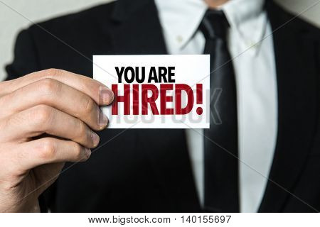 You Are Hired!