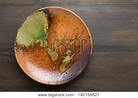 Plate Japanese, Plate Japanese style on wood background