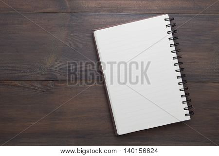notebook open on the table, Empty notebook open on the table