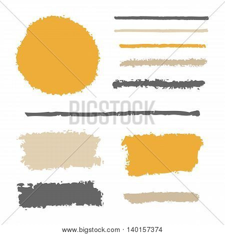 Vector brushes set, blob circle and lines