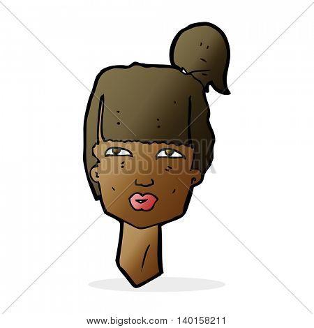 cartoon female head