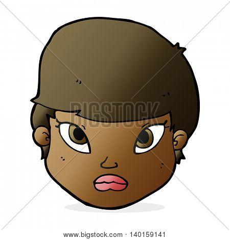 cartoon serious face