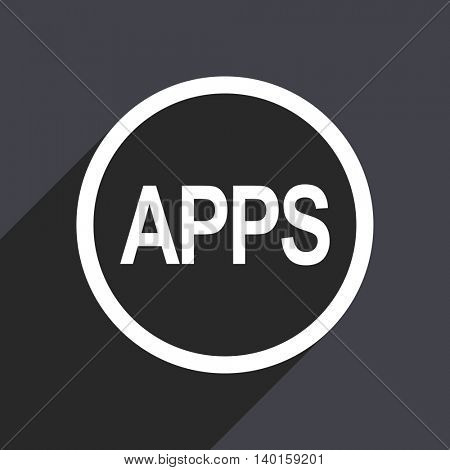 Flat design gray apps vector icon