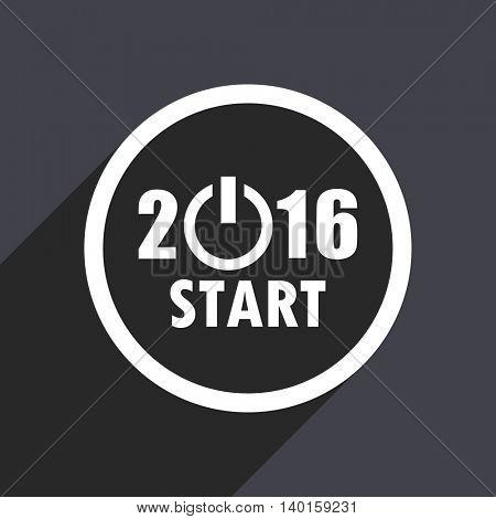 Flat design gray 2016 vector icon