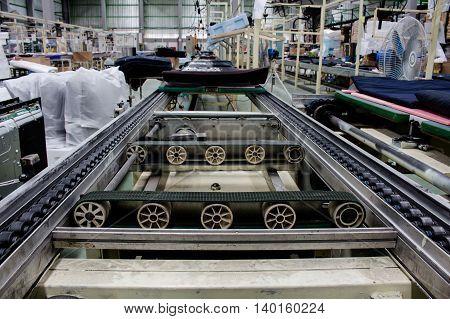 the conveyor belt and chain conveyor in industry.