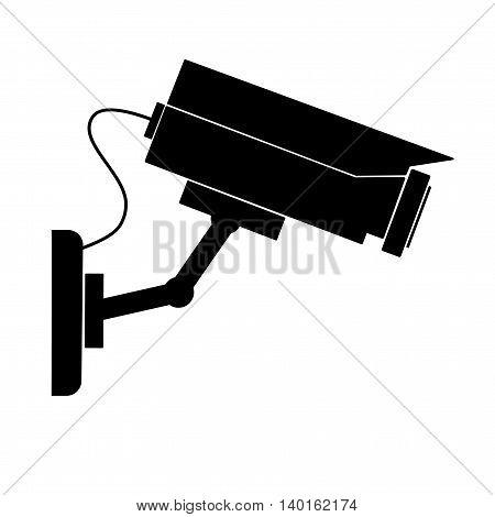 Video surveillance camera - vector illustration. Camera cctv