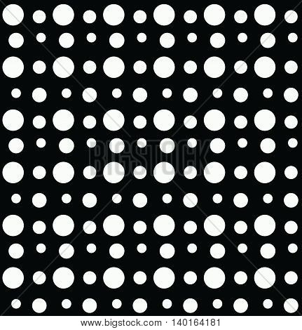 Polka dot of different dimensions seamless pattern