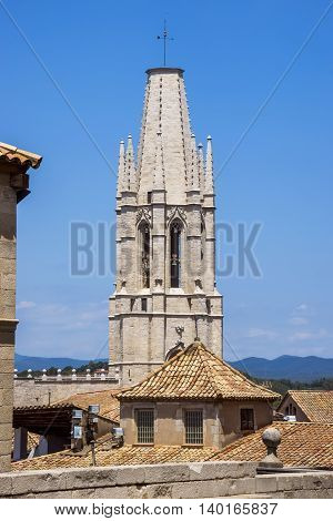 Saint Mary Cathedral in Girona Catalonia Spain