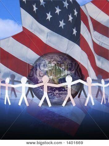 Amerikanische Einheit und der Welt