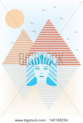Abstract ancient Egypt illustration. EPS file available.