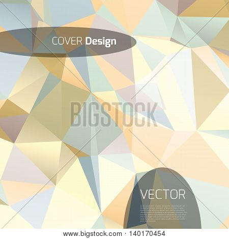 Abstract background with colorful triangles and space for text.