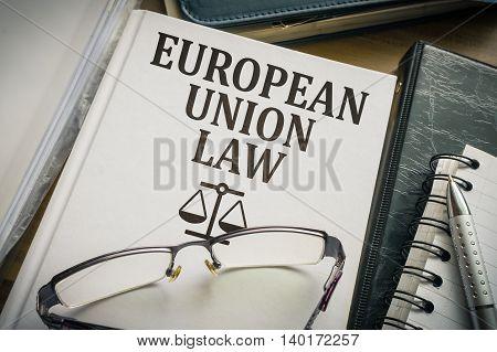 European Union Law. Legislation And Justice Concept.